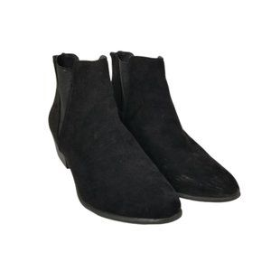 Esprit Black Suede Heeled Booties Ankle Boots